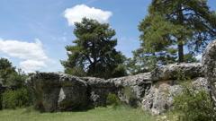 Spain Serrania de Cuenca Encantada Rocks Stock Footage