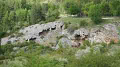 Spain Serrania de Cuenca eroded limestone Stock Footage