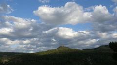 Spain Serrania de Cuenca mountain clouds time lapse Stock Footage