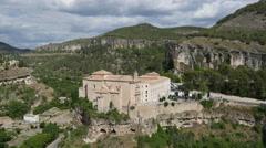Spain Cuenca parador in old monastery Stock Footage