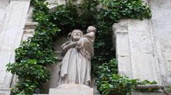 Spain Cuenca St Joseph statue Stock Footage