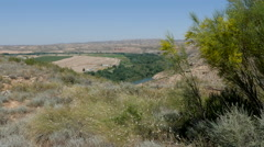Spain Aragon Ebro river valley Stock Footage