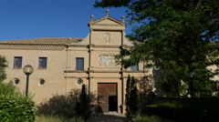Spain Monasterio de Rueda front door Stock Footage
