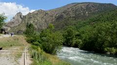 Spain Pyrenees Gerri de la Sal Noguera Pallaresa River Stock Footage