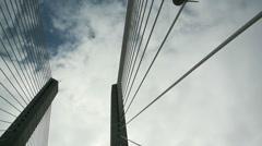 Driving over Vasco Da Gama bridge Stock Footage