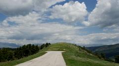 Spain Pre-Pyrenees La Molina landing strip Stock Footage
