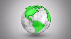 World Map Turns Into a Globe Stock Footage