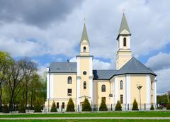 Church of Nativity of Blessed Virgin Mary, Gomel, Belarus Stock Photos