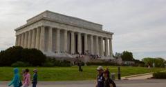 Lincoln Memorial Hyperlapse in 4K Stock Footage