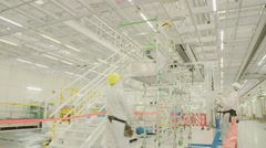 Construction project in a semiconductor manufacturing facility Stock Footage