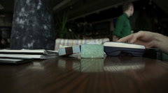 Paying with plastic card Stock Footage