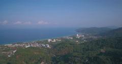 Drone Flying Towards Karon Beach in Phuket Thailand Stock Footage