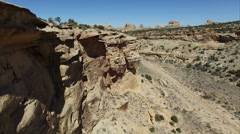 Flying Along The Cliffs Of Coal Wash In Southern Utah - stock footage