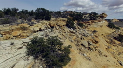 Aerial View Over Dutchman's Arch in Southern Utah Stock Footage