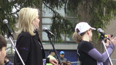 "Mississauga Mayor Bonnie Crombie at The Novo Nordisk® ""Hazel"" 5KM Stock Footage"