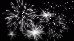 Animated fireworks in alpha channel Arkistovideo