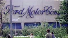 1964: Ford Motor Company building at EXPO New York World's Fair. Stock Footage