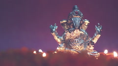 Lord ganesha around with oil lamp Stock Footage