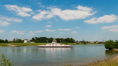 Time lapse Ferry Wijk bij Duurstede, Netherlands Stock Footage