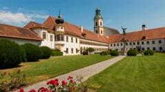 Time lapse of Abbey Reichersberg in Austria - stock footage
