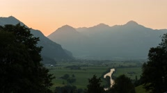 Time lapse of Zillertal Sunset Stock Footage