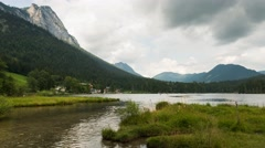 Time lapse of lake 'Hintersee' near Ramsau Stock Footage