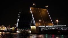 Cargo Ship And The Palace Drawbridge - stock footage