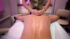 Body Peeling in beauty salon Stock Footage