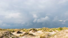 Time lapse of dunes and clouds on Texel Stock Footage