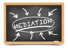 Blackboard Mediation Focus - stock illustration