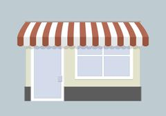 small store front - stock illustration