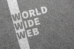 Internet www world wide web online on computer concept Stock Photos