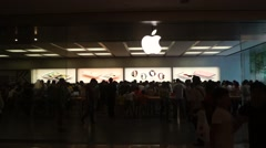 Apple mobile phone store, in Shenzhen, China - stock footage