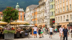 Time lapse Innsbruck Maria Theresien Town Square Stock Footage