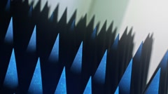 Looping array of scary spikes under dramatic lighting, version 1 Stock Footage