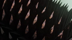Looping array of scary spikes under dramatic lighting, version 4 Stock Footage
