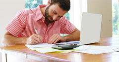 Men working at home Stock Footage