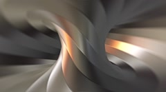 Looping steel twisted torus tunnel animation, version 3 Stock Footage