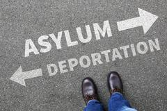 Asylum deportation removal refugees refugee sanctuary immigrants illegal immi - stock photo