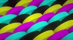 Uniform Looping Array of CMYK Gears, Version 2 - stock footage