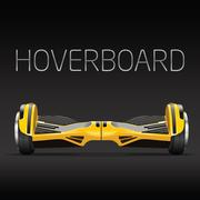 Dual wheel selfbalance electric hover board Stock Illustration
