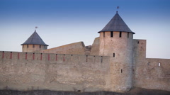 The medieval castle in the middle of Narva Stock Footage