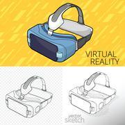 Virtual reality VR - stock illustration
