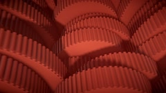 Looping array of colored Gears with small teeth, Version 2 - stock footage