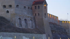 The beautiful historical place of the German knights castle Stock Footage