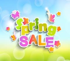 Spring sale vector Stock Illustration