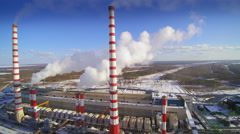 Overview of the electric power plant Stock Footage