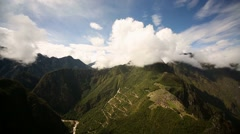Machu Picchu in Peru (Different view) - stock footage