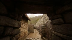 Buildings in Machu Picchu. Peru - stock footage
