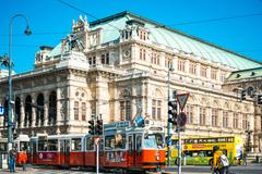VIENNA, AUSTRIA-April 20 : Viennese Classical style building on April 20, 201 Stock Photos